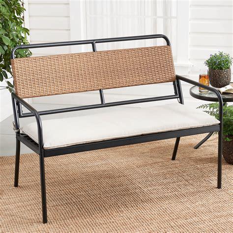 Wicker/Wood Bench