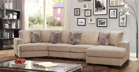 Wide Corduroy Sofa