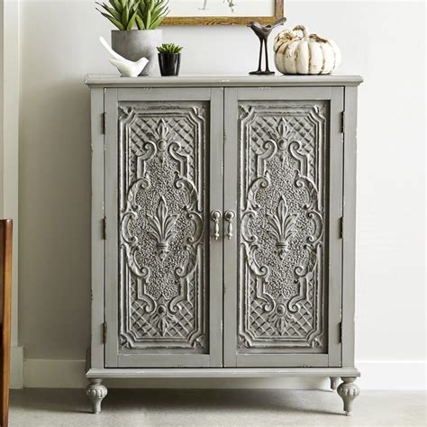 Wiest Ornate Front 2 Door Accent Cabinet