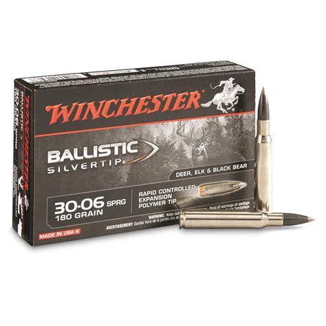 Ammunition Winchester Silver Ballistictip 30 06 Ammunition.