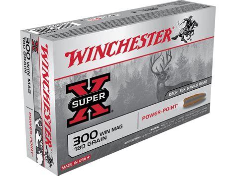 Ammunition Winchester Super-X Ammunition 300 Winchester Magnum 180 Grain Power-Point.