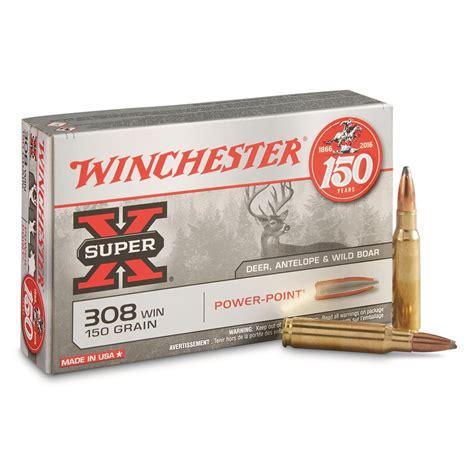 Ammunition Winchester Super-X Ammunition 308 150 Grain.