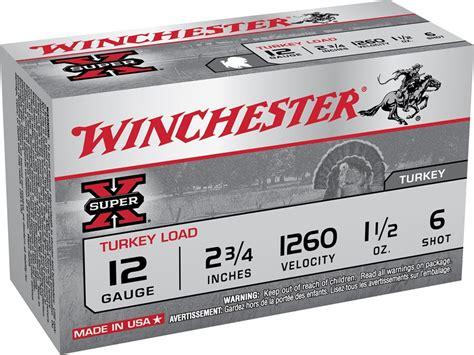 Ammunition Winchester Super-X Turkey Ammunition 12 Gauge 2-3 4 6 Shot.