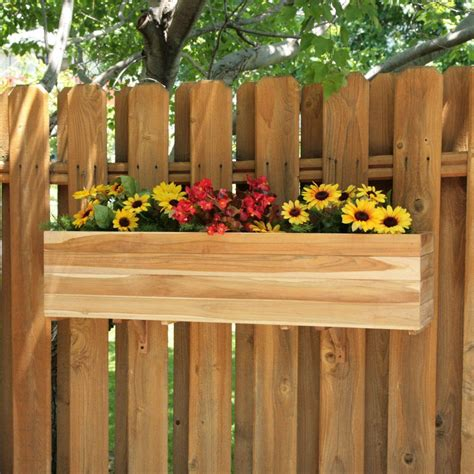 window box planters for fences