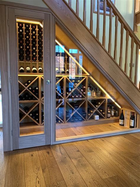 wine storage ideas under stairs
