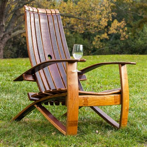 Wine Barrel Adirondack Chair Plans