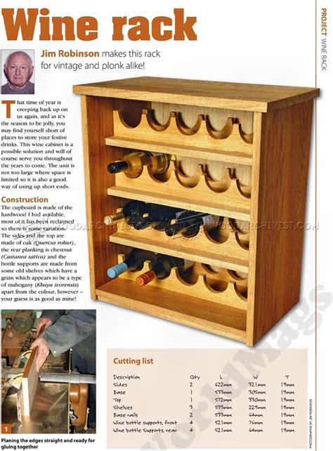 Wine Cabinet Woodworking Plans