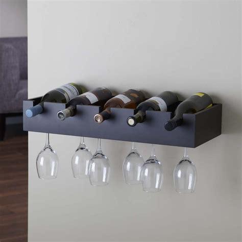 Wine Glass Rack Wall Mount Espresso