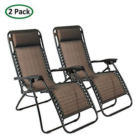 Winnett Folding Zero Gravity Chair with Cushion (Set of 2)