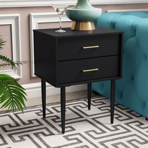 Winningham 2 Drawer End Table with Storage