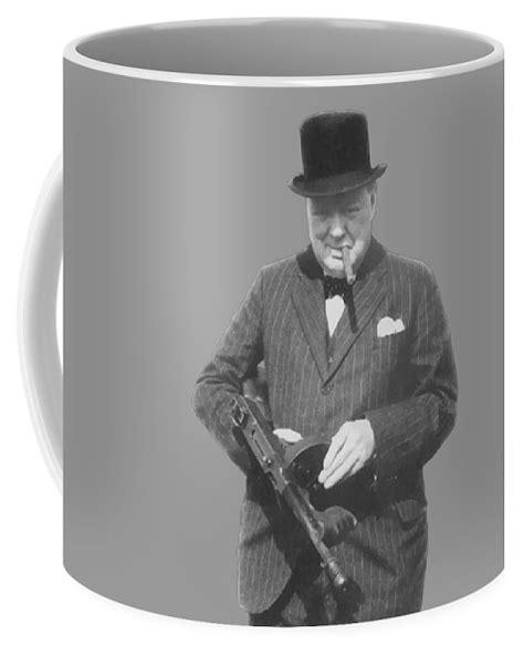 Tommy-Gun Winston Churchill Tommy Gun Mug.