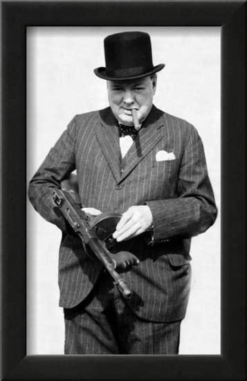 Tommy-Gun Winston Churchill Tommy Gun Poster