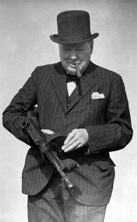 Tommy-Gun Winston Churchill Tommy Gun Tattoo.