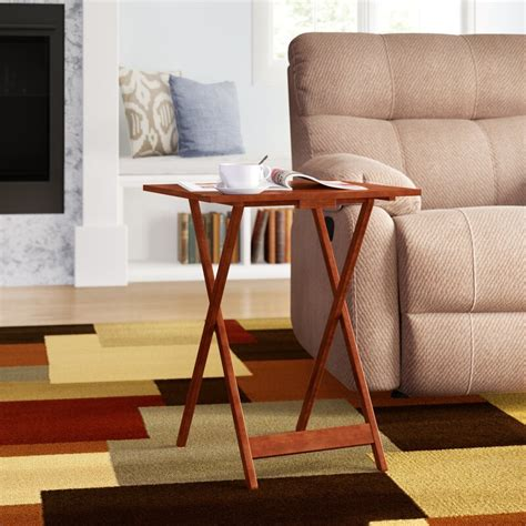 Winterstown 5 Piece Tray Table Set