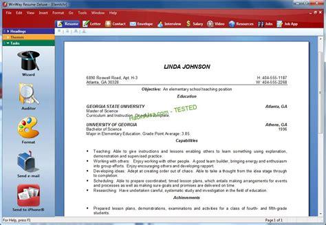 winway resume deluxe download free resume software for windows free cnet download - Winway Resume Free