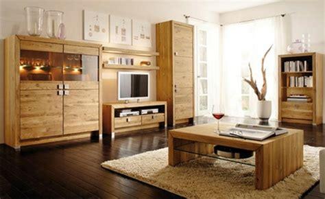 Wohnzimmer Echtholzmöbel