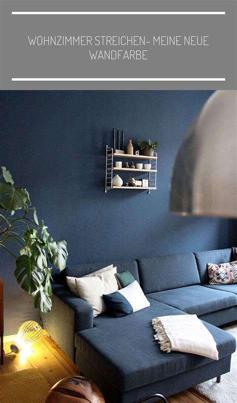Wohnzimmer Farbe Grau Blau
