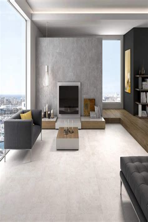 Wohnzimmer Fliesen Grau