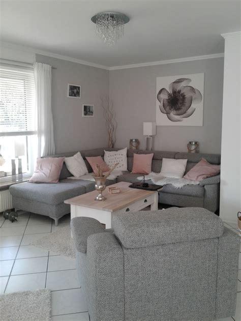 Wohnzimmer Ideen Rosa Grau