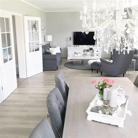 Wohnzimmer Inspiration Grau Weiß