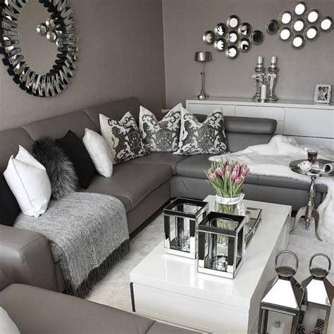 Wohnzimmer Weiß Grau Schwarz