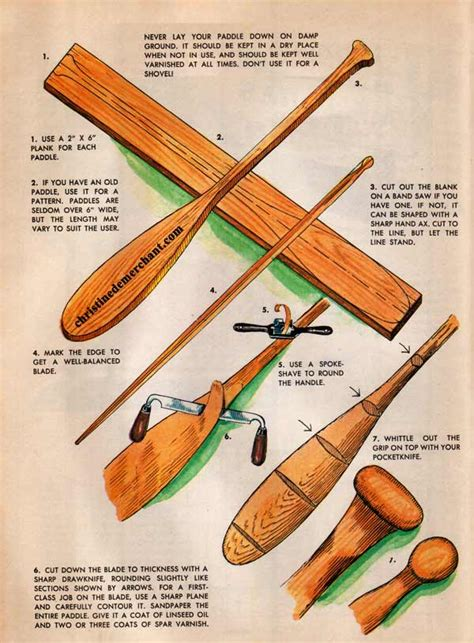 wood canoe paddles plans