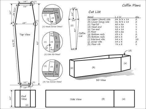 wood coffin plans free