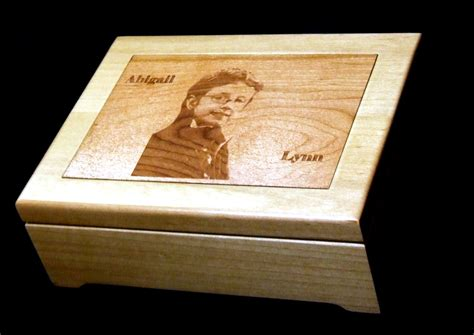 wood jewelry box engraved