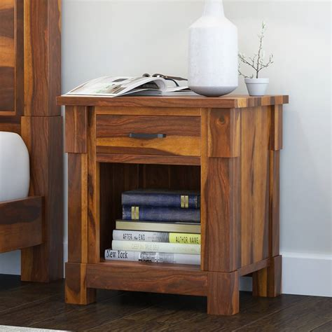 Wood 1 Drawer Nightstand byCole & Grey