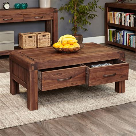 Wood and Leather 4 Drawer End Table