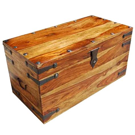 Wood Coffee Table Trunk