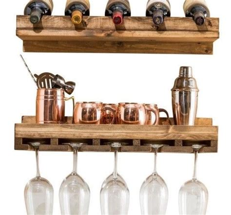 Wood Hanging Wine Glass Rack (Set of 4 by