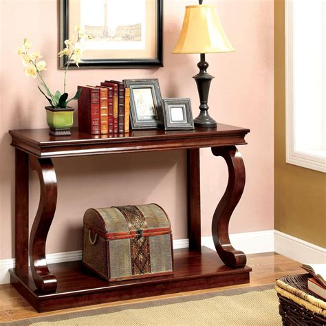 Wood Louvered Console Table