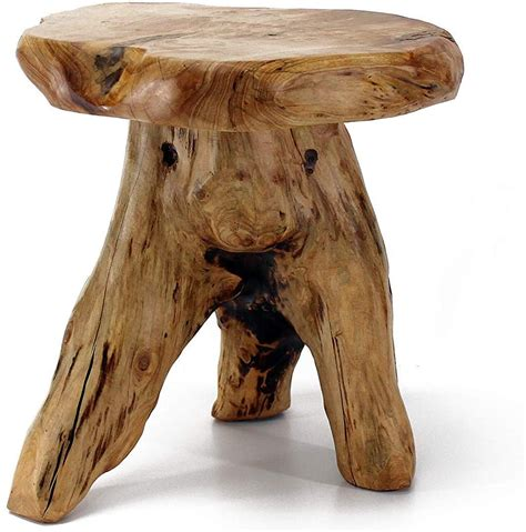 Wood Stump Mushroom Accent Stool