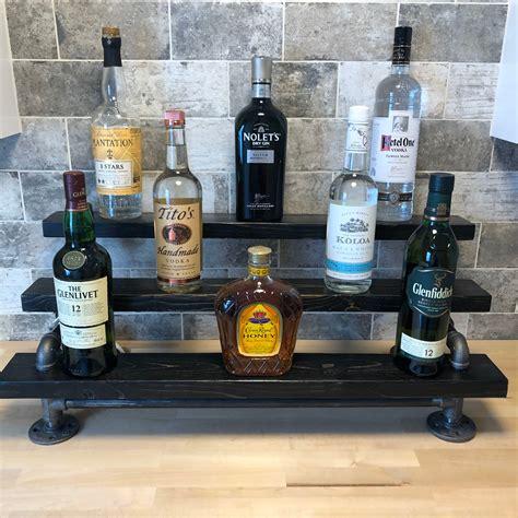 Wood Liquor Shelf