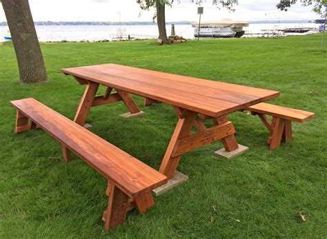 Wood Picnic Table Bench