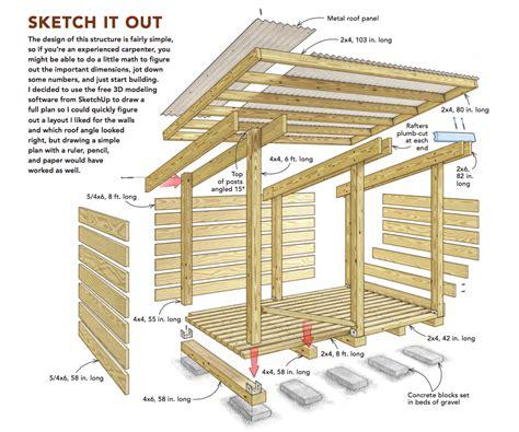 Wood Shed Roof Design