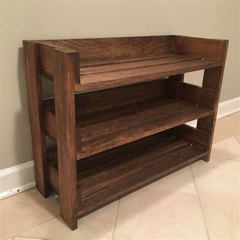 Wood Shoe Rack Plans