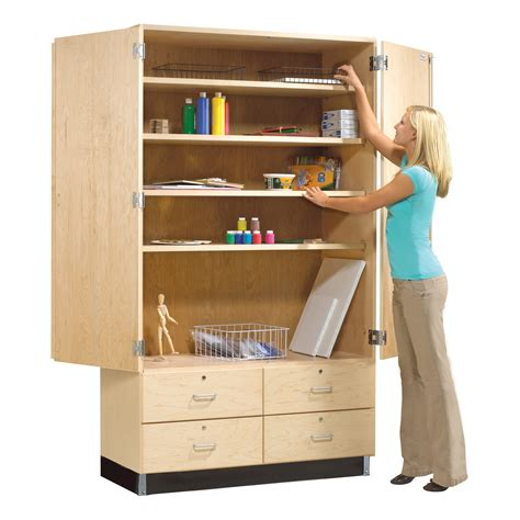 Wood Storage Cabinets With Drawers