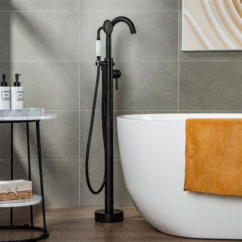 Woodbridge Single Handle Floor Mounted Freestanding Tub Filler