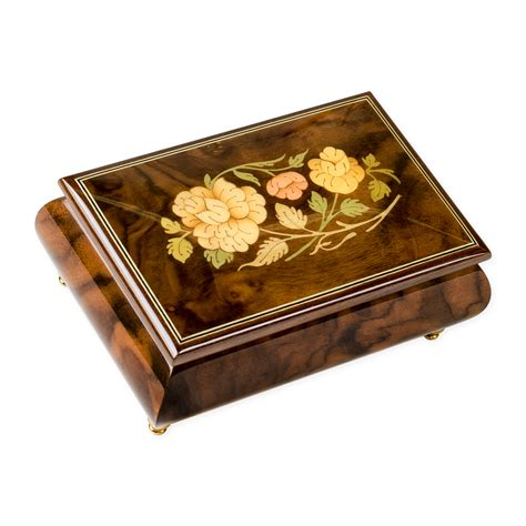 wooden jewelry box with music