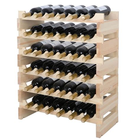 wooden modular wine racks