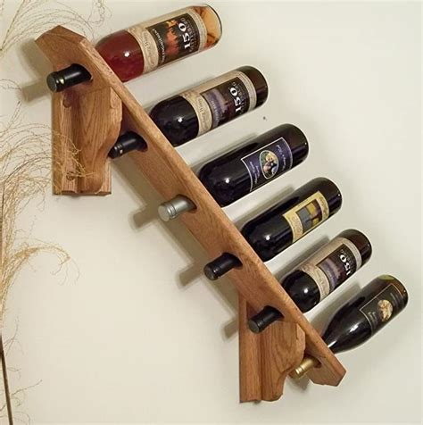 wooden wall wine rack system