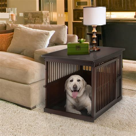 Wooden End Table Pet Crate