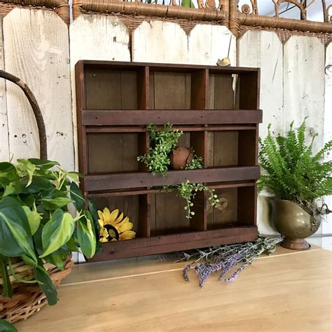 Wooden Wall with 9 Cubbies
