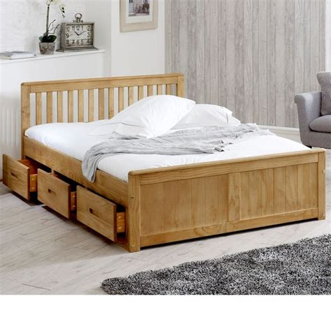 Wooden Bed Storage