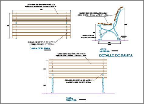Wooden Bench Detail