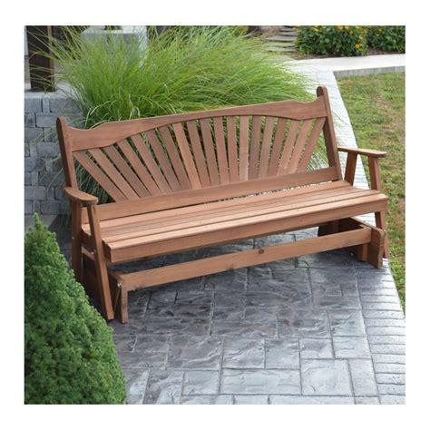 Wooden Bench Glider