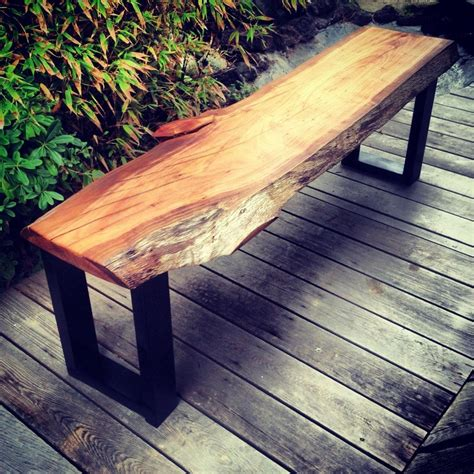 Wooden Bench Metal Frame