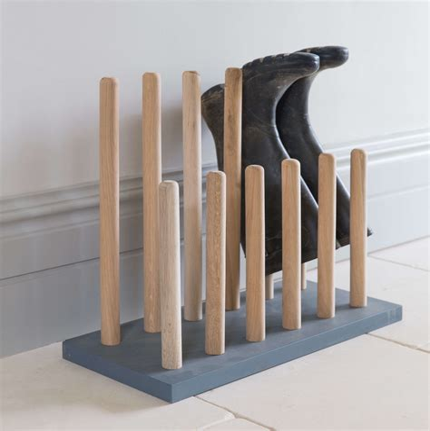 Wooden Boot Rack